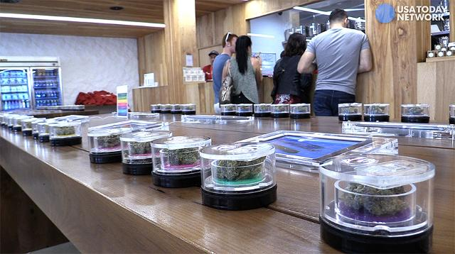 Long lines greeted the opening of legal marijuana retail stores in Southern California.