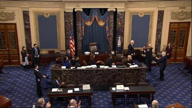 2 Senate Democrats Sworn In, Narrow GOP Majority