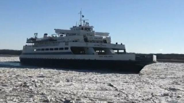 Cape May ferry travels through extreme, icy conditions