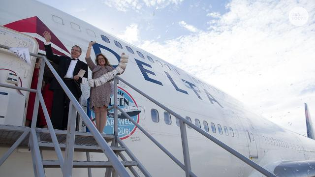 """The final Boeing 747 passenger flight among U.S. airlines included a lot of """"last times,"""" but also a special new beginning."""