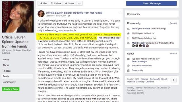 Missing Indiana student's mom pens heartbreaking post