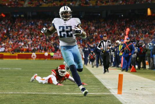 35605a4c NFL wild-card round: Titans upset Chiefs, Falcons down Rams