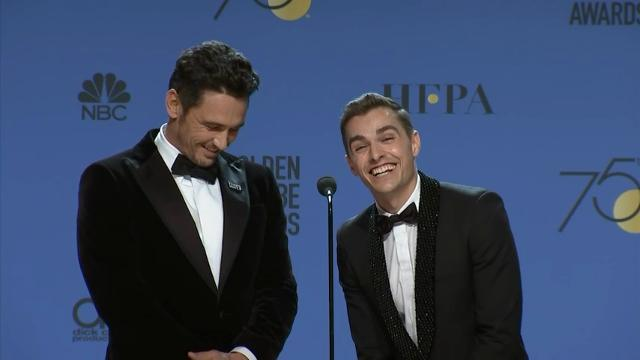 Golden Globe winners celebrate backstage
