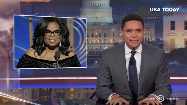 The late-night comics on Oprah Winfrey's speech at the Golden Globes. Take a look at our favorite jokes, then vote for yours at usatoday.com/opinion.
