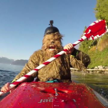 Chewbacca ditches Millennium Falcon for kayak