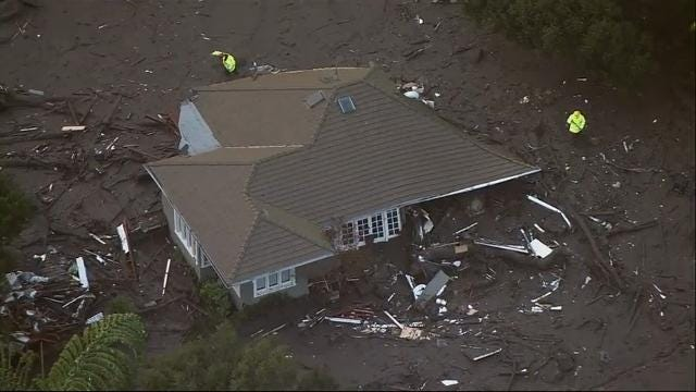 'Catastrophic' debris flow tears homes apart