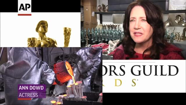 The American Fine Arts Foundry has begun the process of creating the SAG Award statuettes with each individually cast in solid bronze using the lost wax process