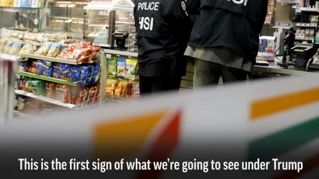 Inspection notices at 7-Eleven stores served by immigration officials