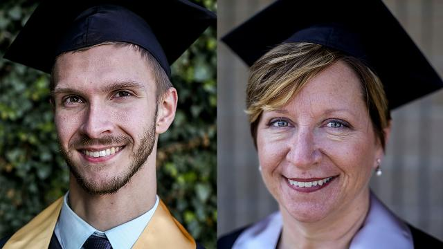 Mom and son graduate college together
