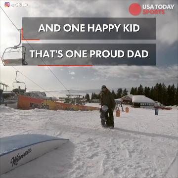 Credit to: @grilo2 Year-old Emmi is ripping the slopes with her proud dad.