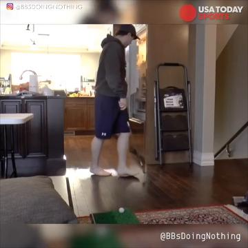 Credit to: @bbsdoingnothing 22 year-old Andrew Borys enjoys creating unique trick shot videos. This video is very much unique.