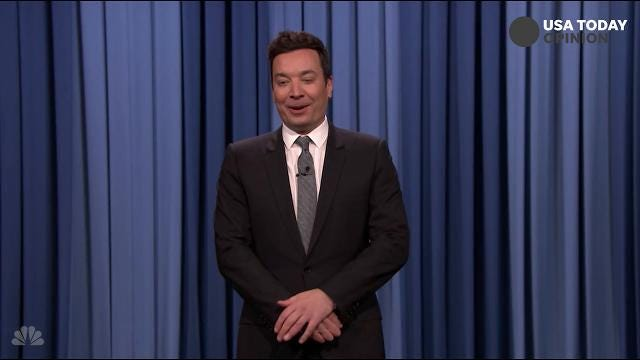 The late-night comics on President Trump's work ethic. Take a look at our favorite jokes, then vote for yours at usatoday.com/opinion.