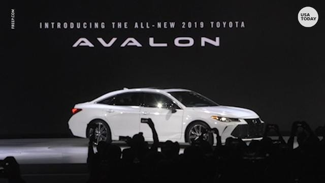 The 2019 Avalon touts technology, luxury, and safety at the North American International Auto Show.