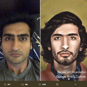 Google Arts app selfies are taking over Twitter