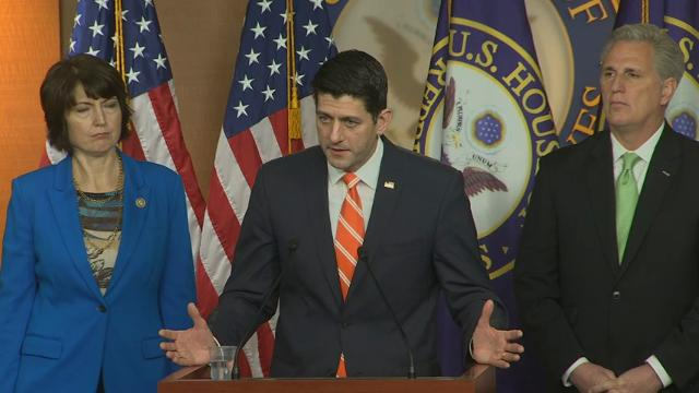 Ryan pressures Democrats on spending bill