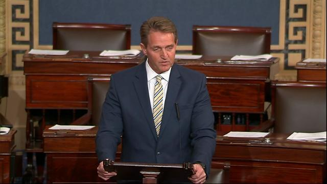 Sen. Flake denounces Trump attacks on press