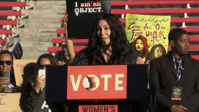 Thousands attend women's rally in Las Vegas