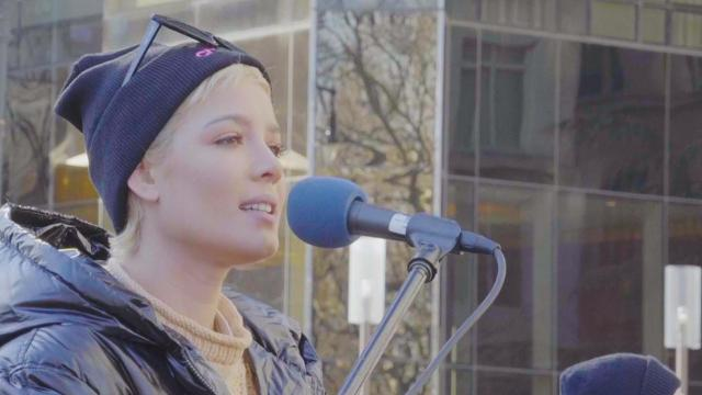 Halsey shares powerful speech about sexual violence