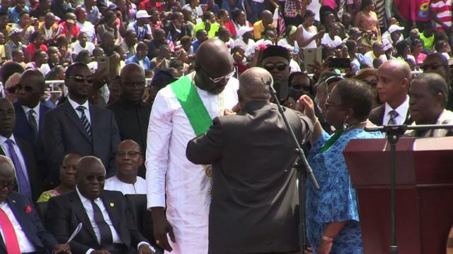 Joy and hope in Liberia as George Weah sworn in as president