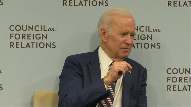 """Former Vice President Joe Biden says Russia is in a state of """"enormous decline,"""" with a """"second-rate"""" military power. """"These guys are on a toboggan run,"""" Biden says. """"The question is when the run ends."""" (Jan. 23)"""