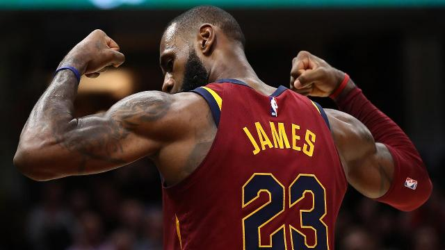 With a jump shot to close out the first quarter on Tuesday night, LeBron James became the seventh player in NBA history to score 30,000 points in a career.