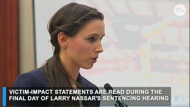 Watch: Nassar victim Rachael Denhollander speaks out