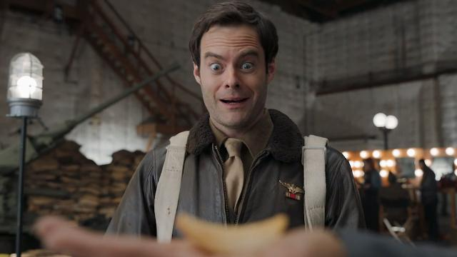 Multi-talented actor Bill Hader hams it up in Pringles' first Super Bowl ad.