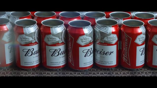 Real workers from Budweiser's Cartersville, Ga., brewery are featured in this ad, which focuses on Anheuser-Busch's emergency water program.