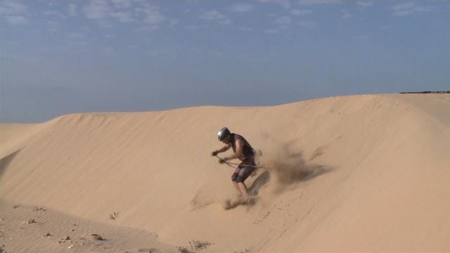 Winter Olympian has been training for ski event on sand