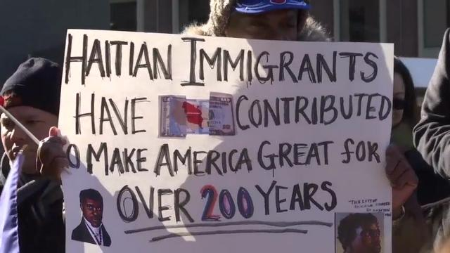 Haitians March Against Immigration Policies