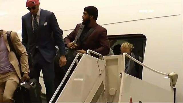 Patriots arrive in Minnesota for Super Bowl