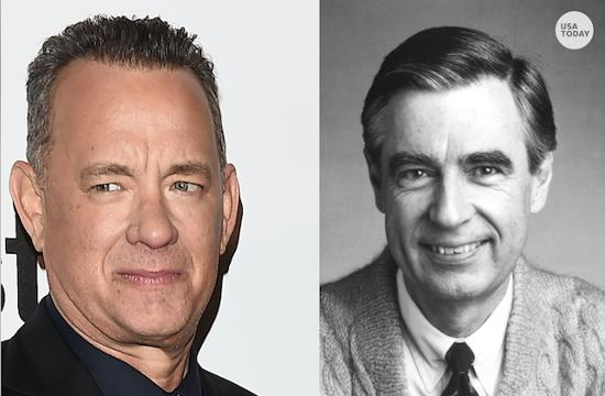 Tom Hanks Emerges As Mister Rogers In First Photo Red Sweater And All