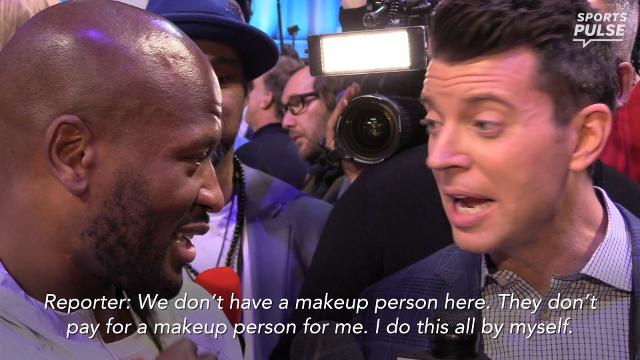 SportsPulse: James Harrison spent part of his media night roasting a reporter for his makeup.