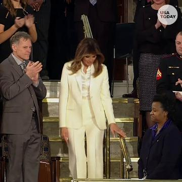 Melania Trump showed up in a separate car for State of the Union