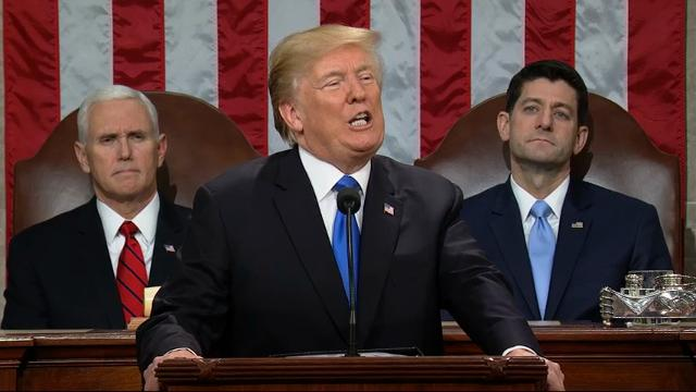 Donald Trump addresses nation in his first State of the Union speech