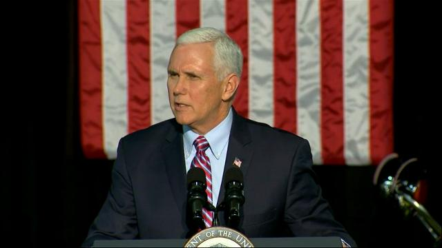 Pence touts tax cuts, attacks Manchin in West Virginia appearance