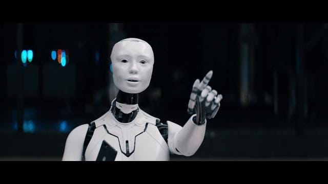 Intelligent robots with a wicked sense of humor instruct their creator to switch to Sprint cell phone service.