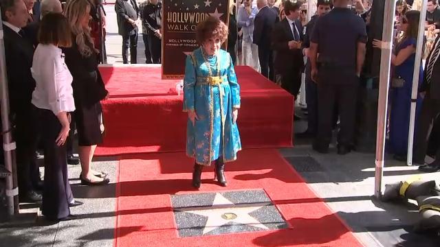 Italian screen legend Gina Lollobrigida receives a star on the Hollywood Walk of Fame. (Feb. 2)