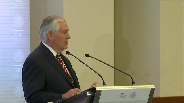 Tillerson talks Russia, immigration in Mexico