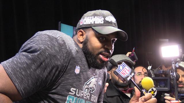 Eagles defensive tackle Fletcher Cox gave props to his teammates following a historic Super Bowl win.