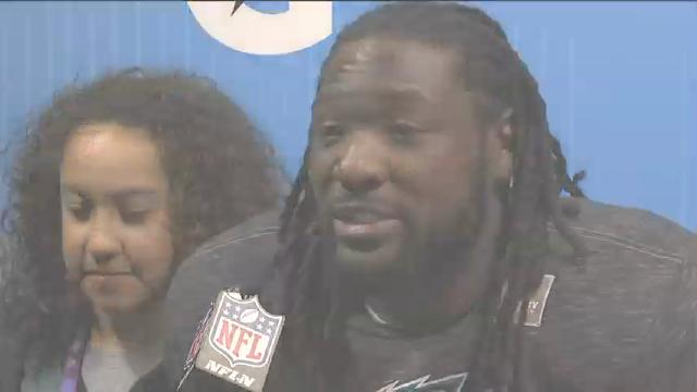 Running Back LeGarrette Blount says the Philadelphia Eagles knew they had to score 'a lot of touchdowns' to beat the New England Patriots in the Super Bowl. Eagles players credit Doug Pederson's aggressive coaching with the Eagles' 41-33 victory. (Feb. 5)