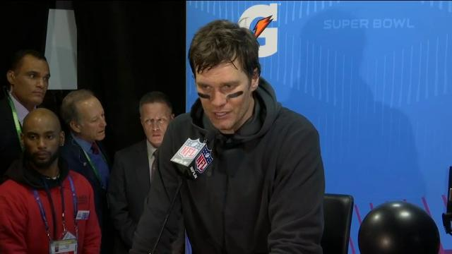 New England Patriots Quarterback Tom Brady says the Philadelphia Eagles made a good play when he was strip-sacked in the fourth quarter of the Super Bowl. Brady threw for a postseason record 505 yards and three TDs but the Eagles won 41-33. (Feb. 5)