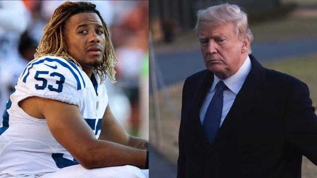 Donald Trump took to Twitter to voice his opinion on the suspect involved in the death of Colts linebacker Edwin Jackson.