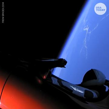 """SpaceX founder Elon Musk says he's """"very proud"""" of their latest launch of the Falcon Heavy. The rocket lifted a $100,000 Tesla Roadster into Space with a mannequin named """"Starman"""" in the driver's seat."""
