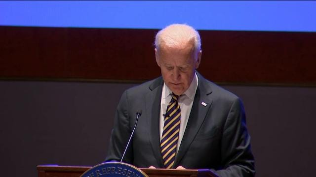Joe Biden rallies Democrats for 2018 midterms