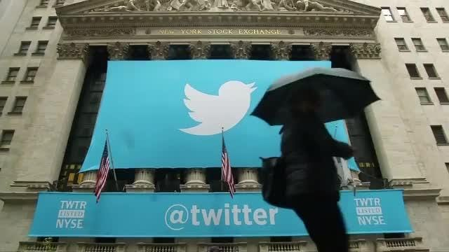 Twitter delivers first profit, shares surge 25 percent