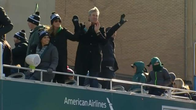 All roads and rails lead to Philadelphia as fans pour into the city for the Eagles' Super Bowl parade. Organizers prepared for as many as 2 million people. (Feb. 8)