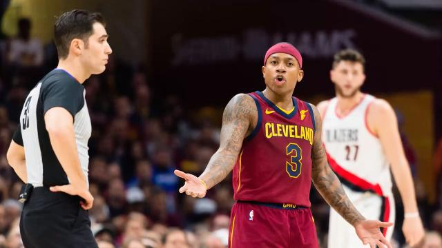 The Los Angeles Lakers acquired Isaiah Thomas, Channing Frye and a 2018 first-round pick from the Cleveland Cavaliers for Jordan Clarkson and Larry Nance Jr.