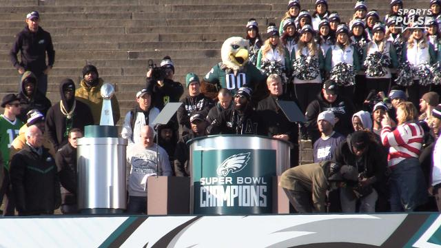 """SportsPulse: Eagles defensive back Malcolm Jenkins blames being too """"turnt up"""" for almost sending everyone into shock by nearly dropping the championship trophy."""