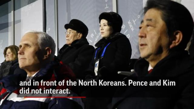 As koreas greet each other at olympics pence opts out m4hsunfo